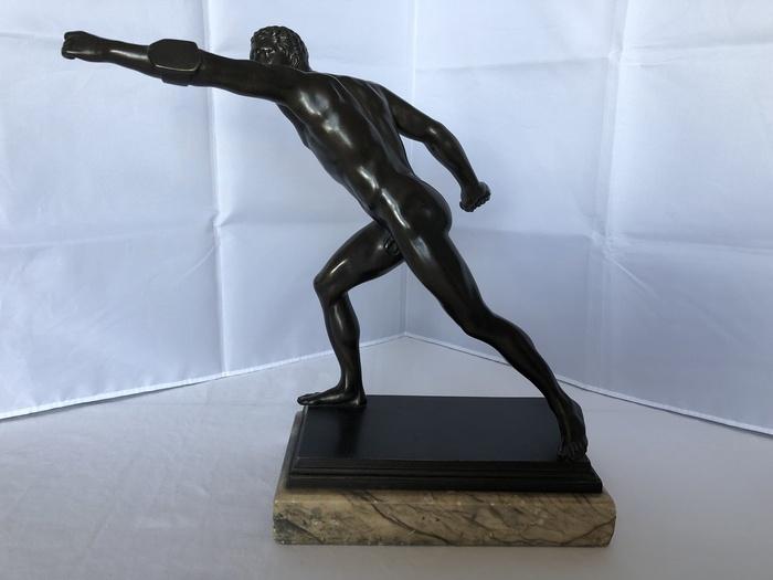 bronze figure of a gladiator
