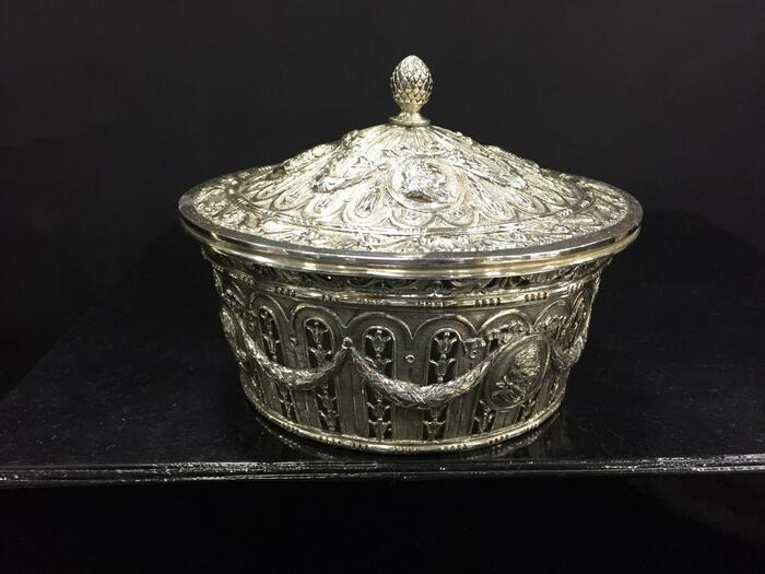800 Covered Silver Bowl